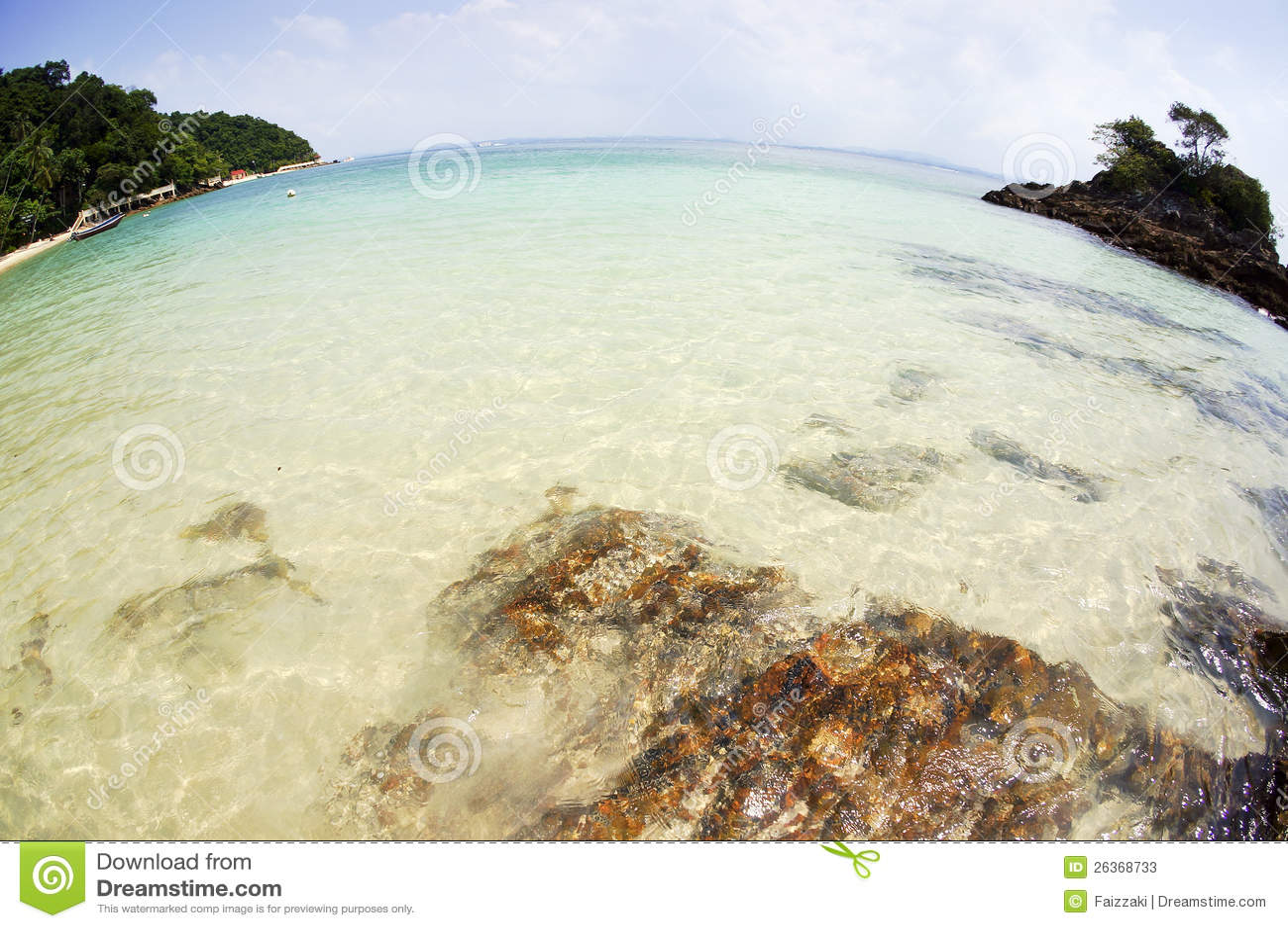 Tropisches Meer und Strände