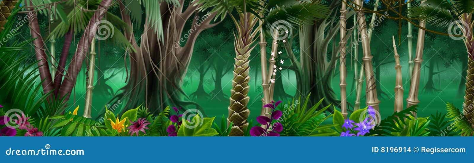 Tropisk bakgrundsskog