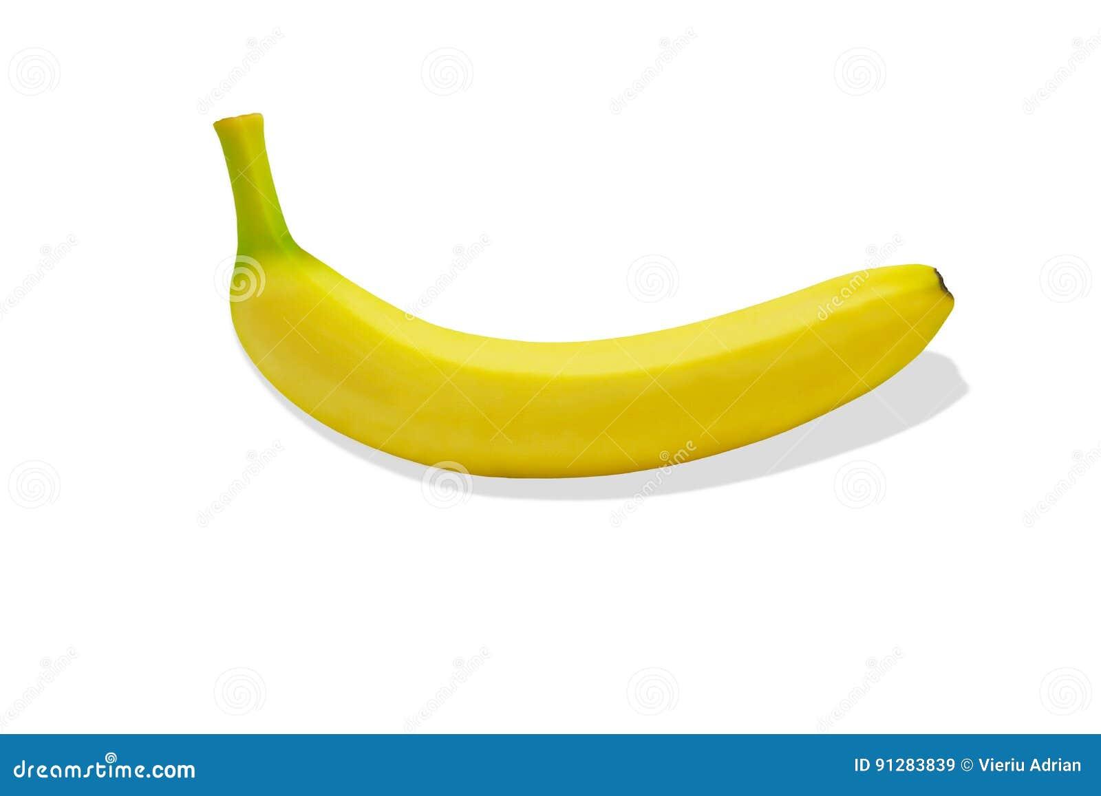 Tropisk isolerad gul bakgrund för Banane fruktnatur