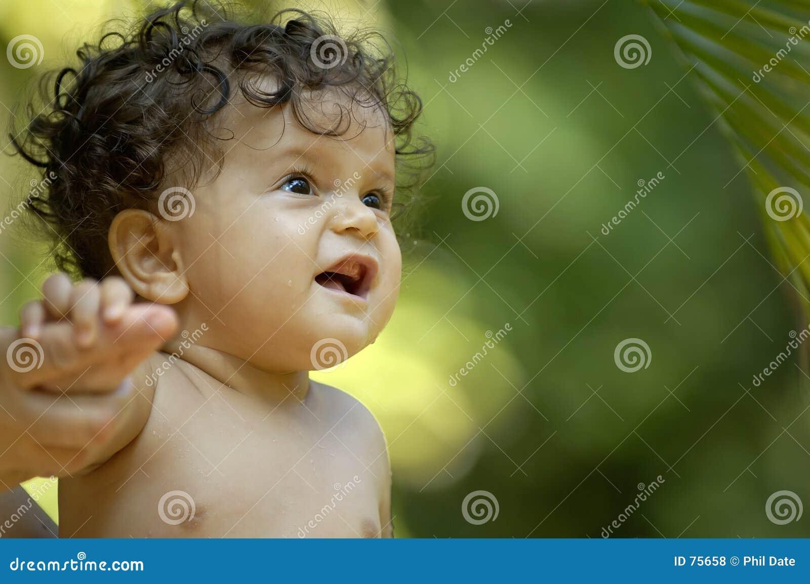 Tropisk litet barn