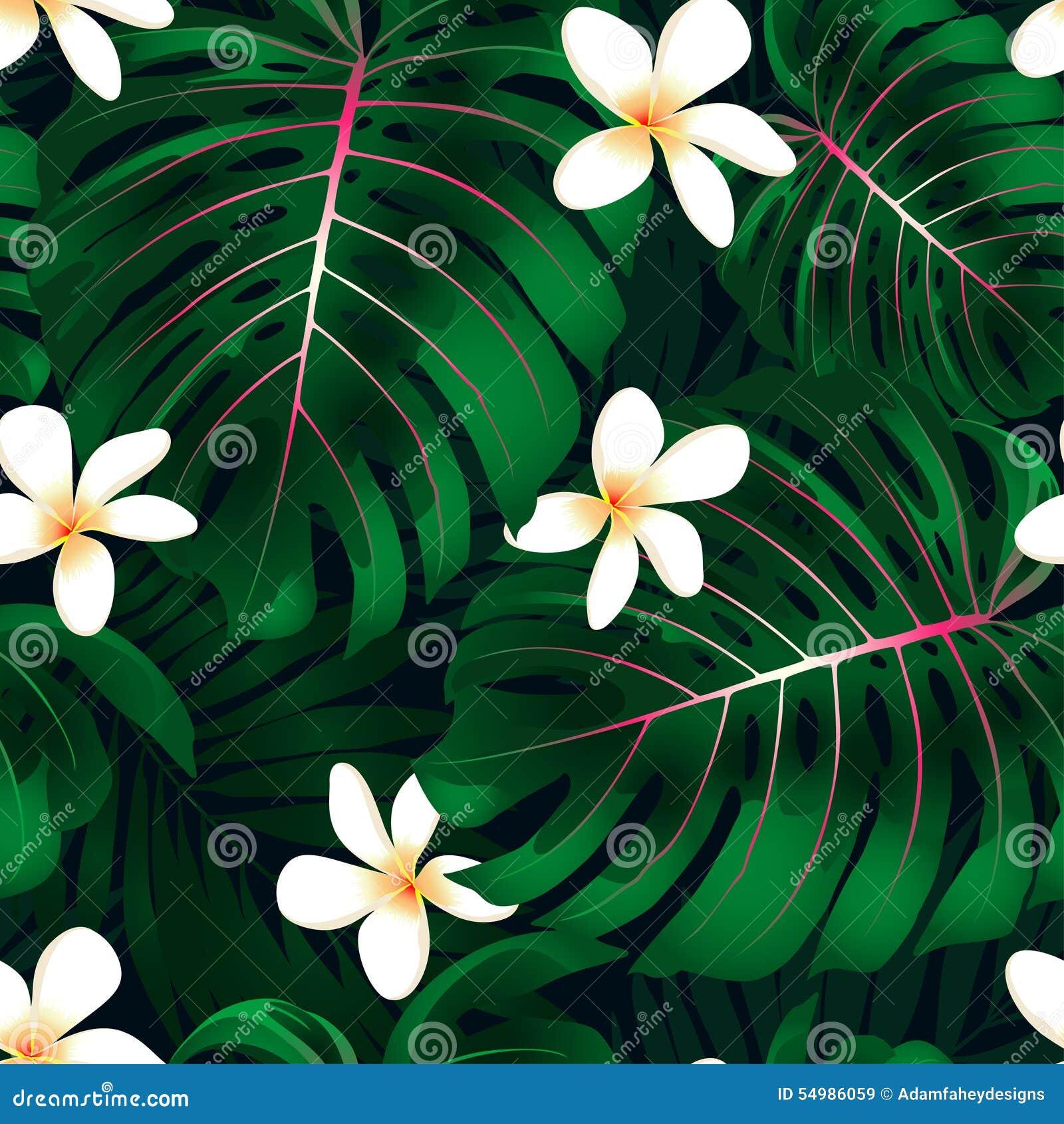 Tropisk Monstera blom- sömlös modell