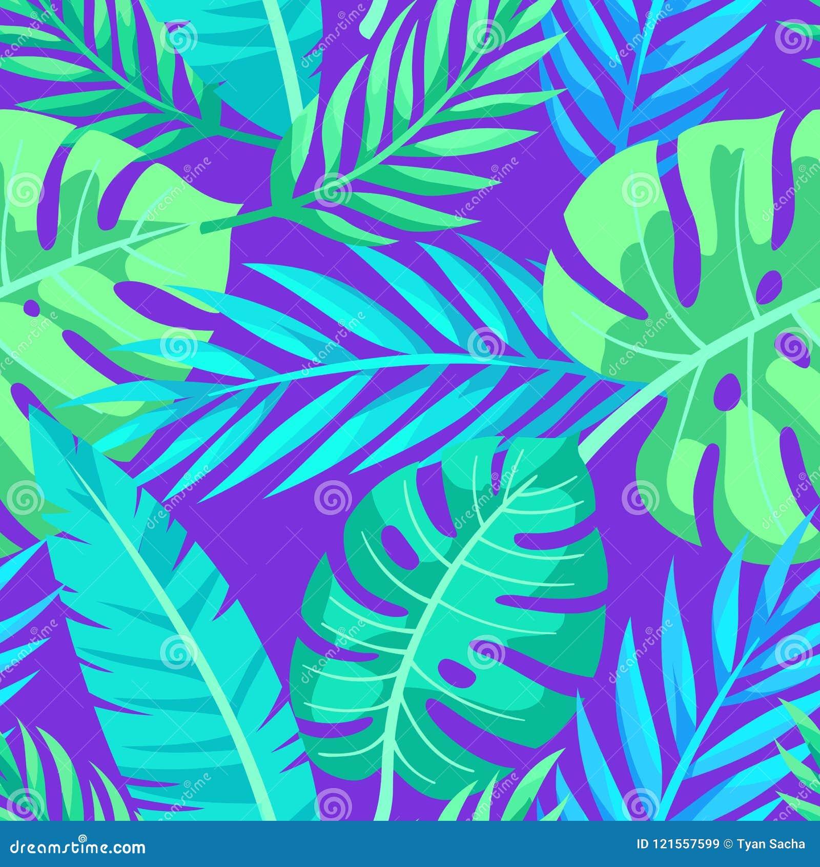 Tropisk vektorgräsplan lämnar den sömlösa modellen