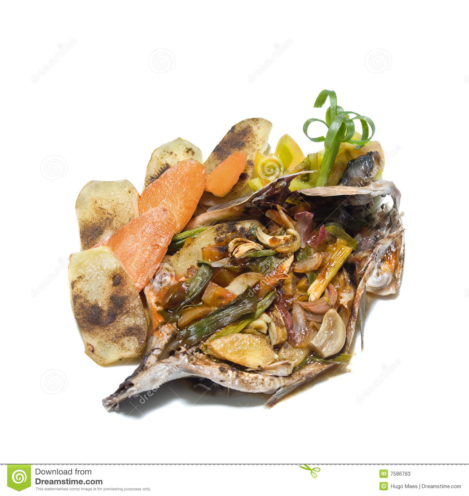 Tropiska veggies för fiskmat