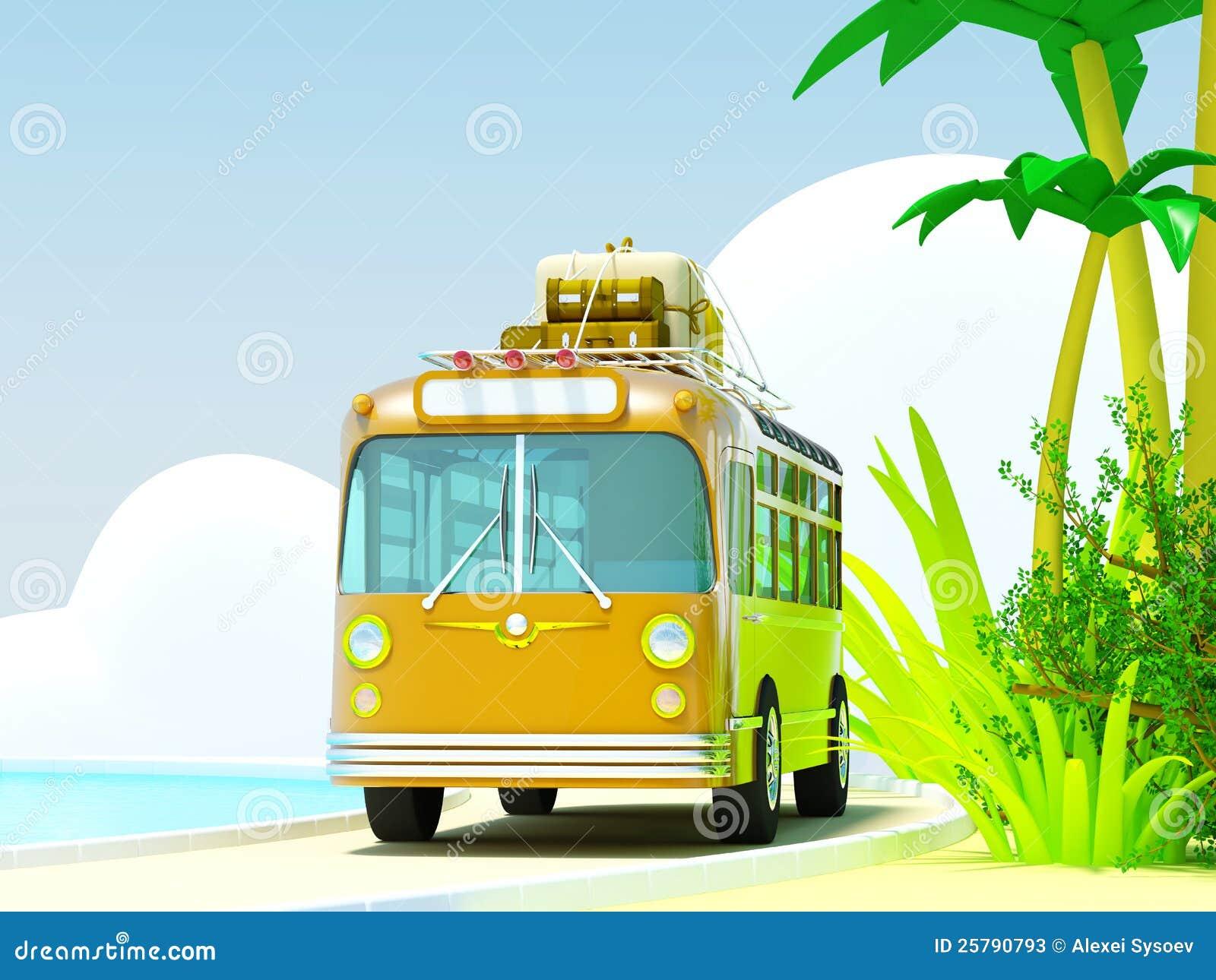 Tropiskt affärsföretag med bussen