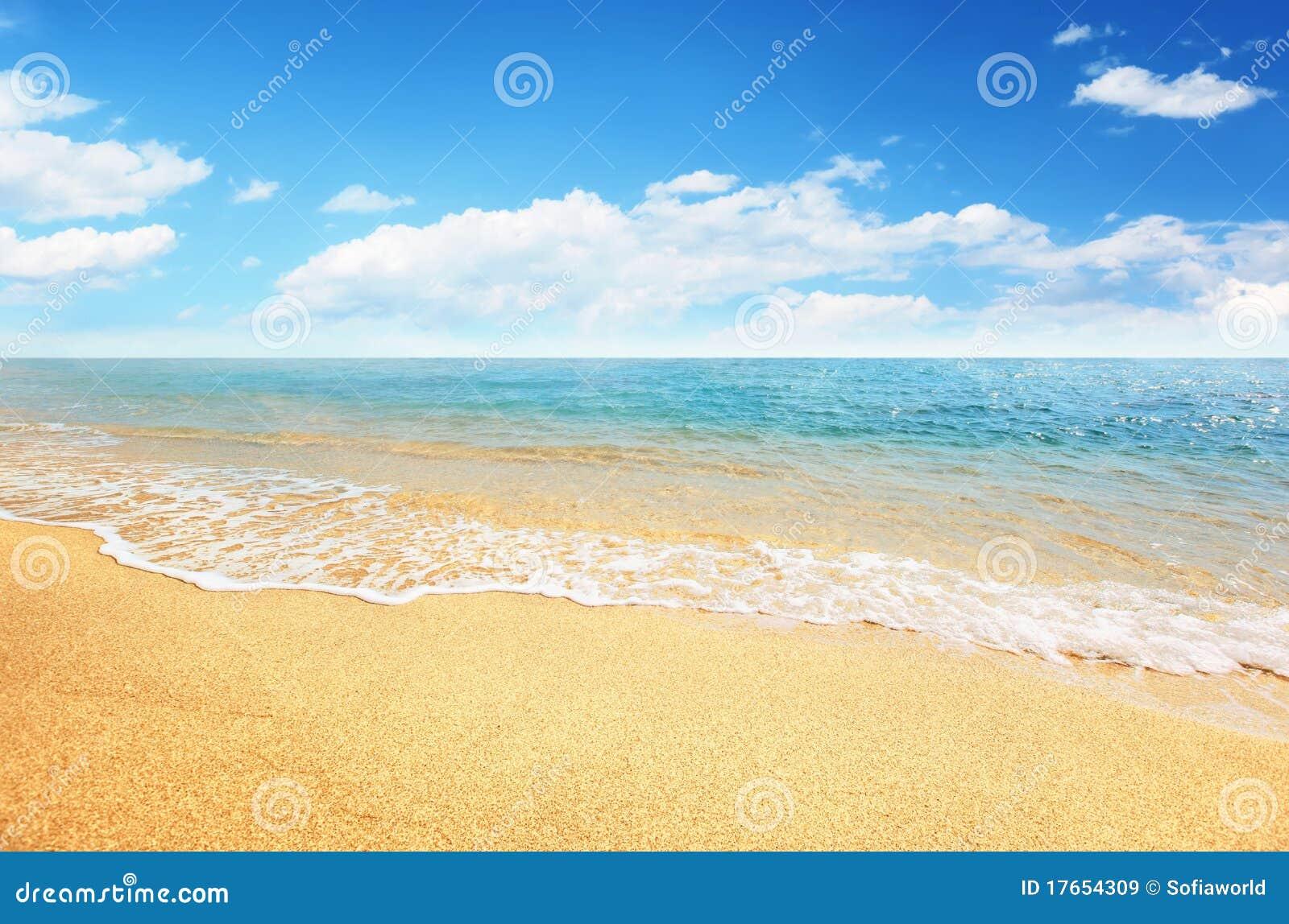 Tropiskt strandsandhav