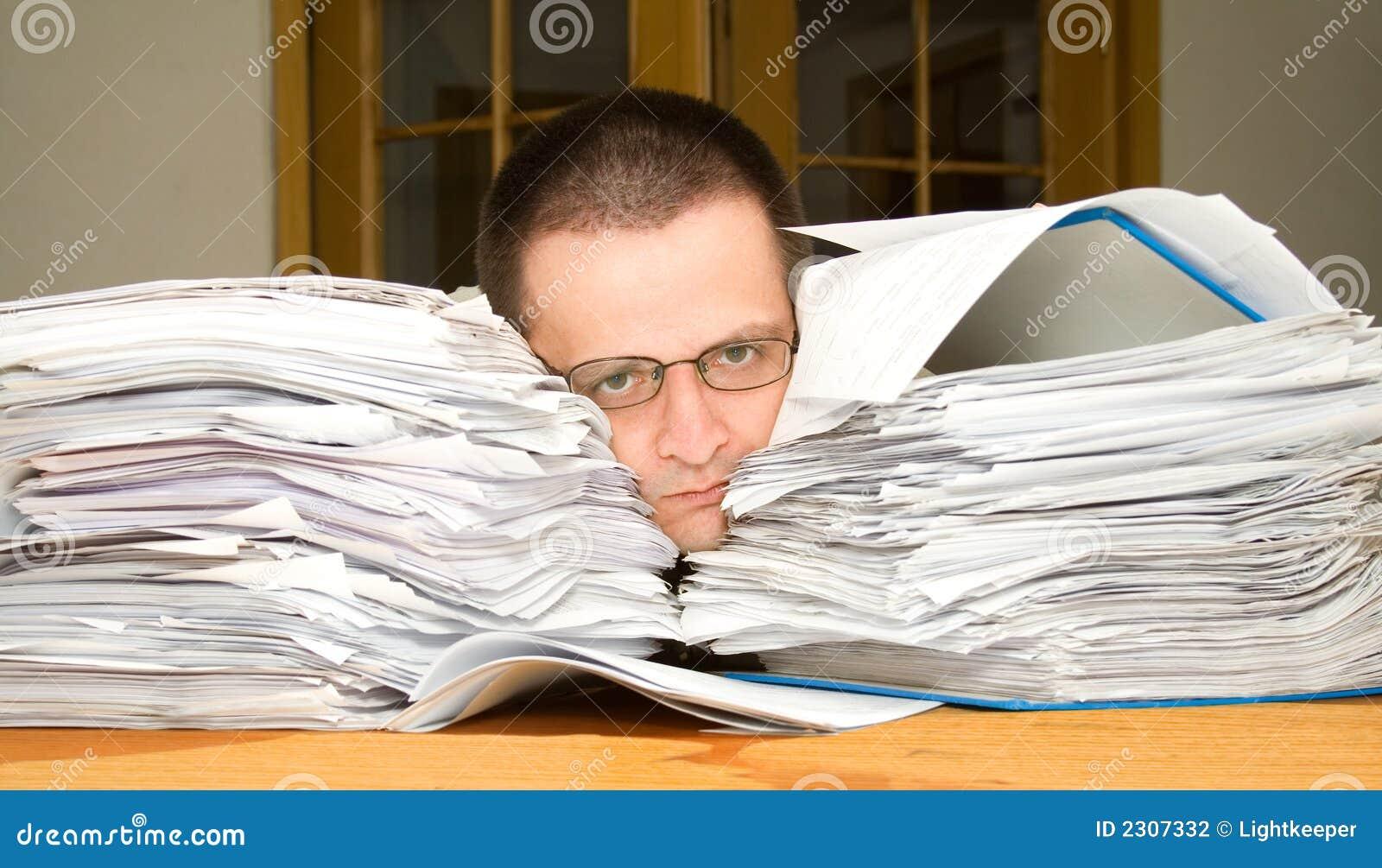Troppo Lavoro Di Ufficio Fotografia Stock Immagine 2307332