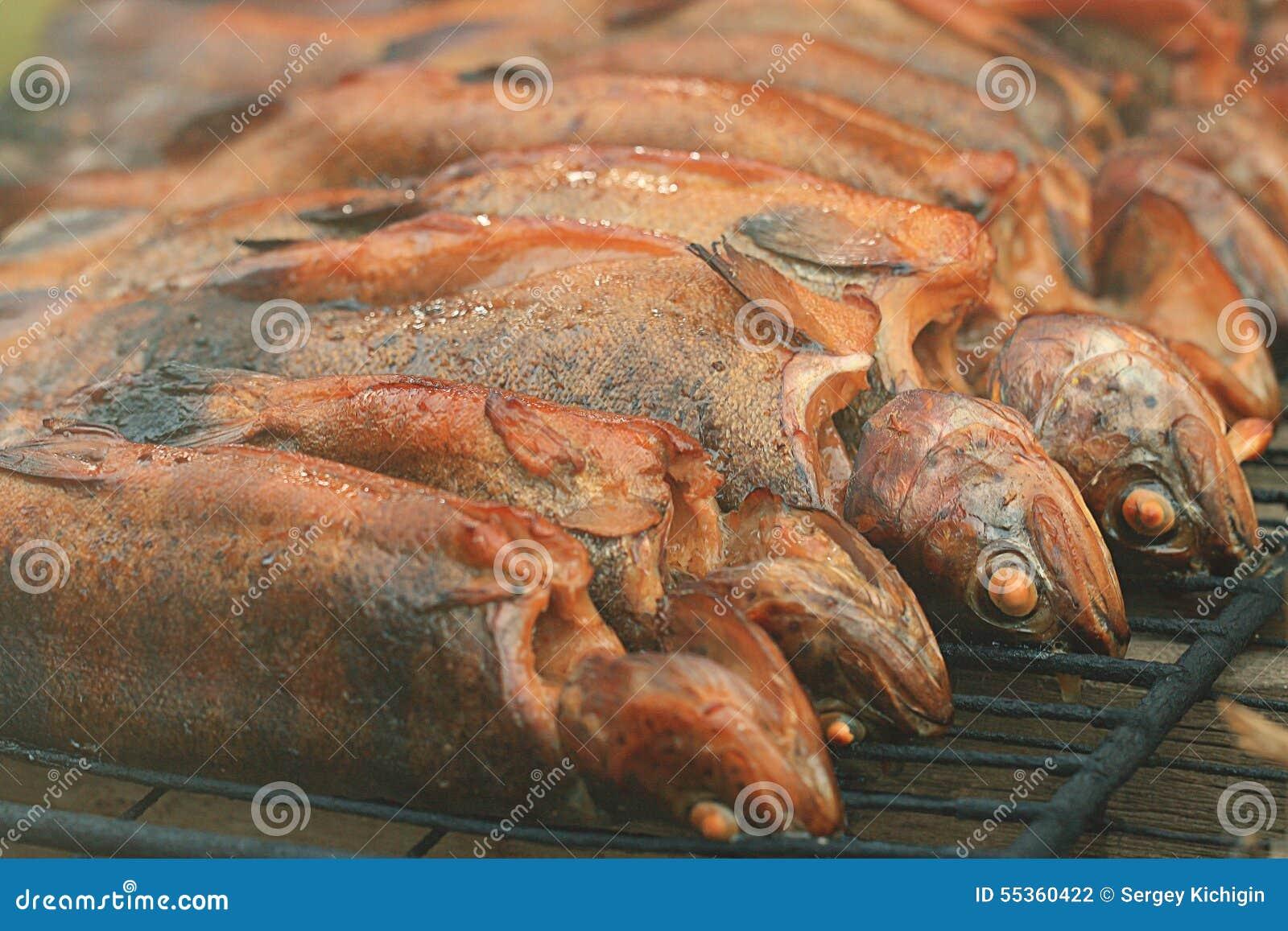 Trota affumicata calda del pesce