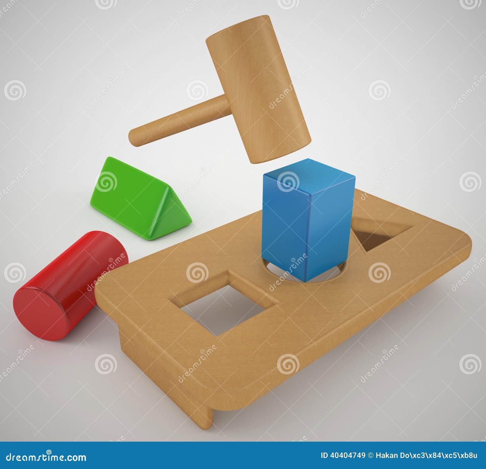 trou rond de cheville carr e illustration stock illustration du rendu table 40404749. Black Bedroom Furniture Sets. Home Design Ideas