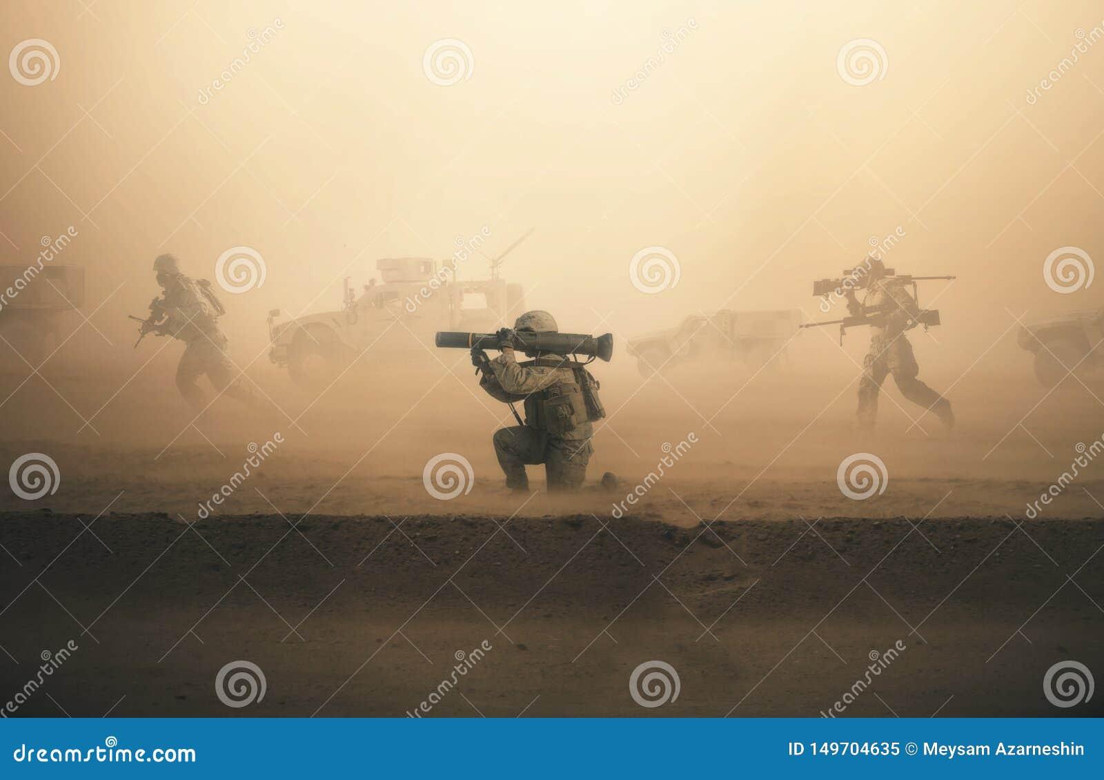 Troupes et machines militaires sur le chemin