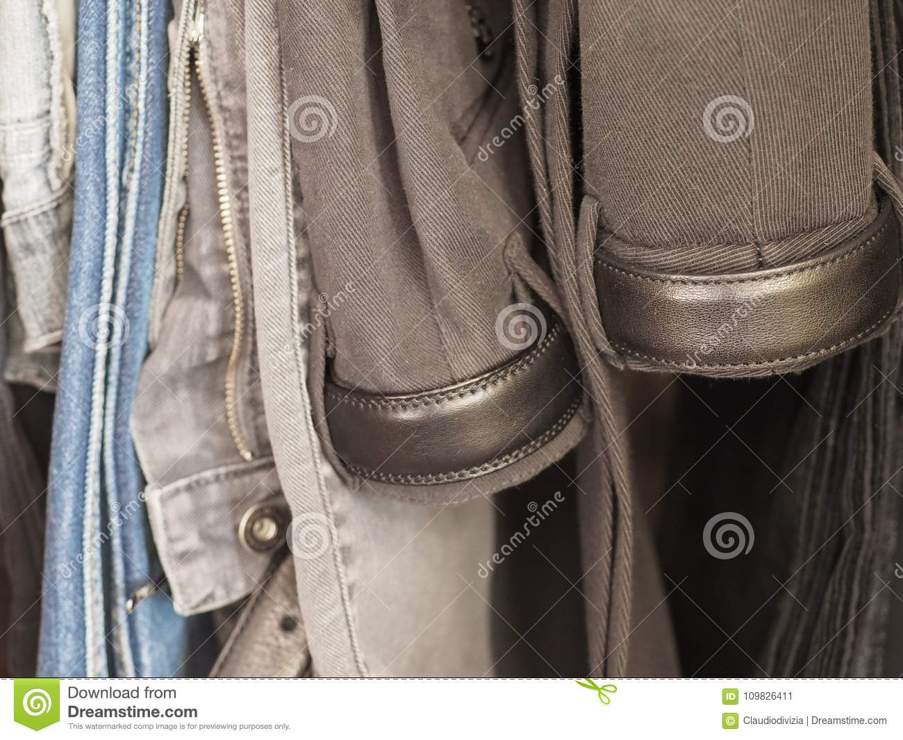 trousers in a closet