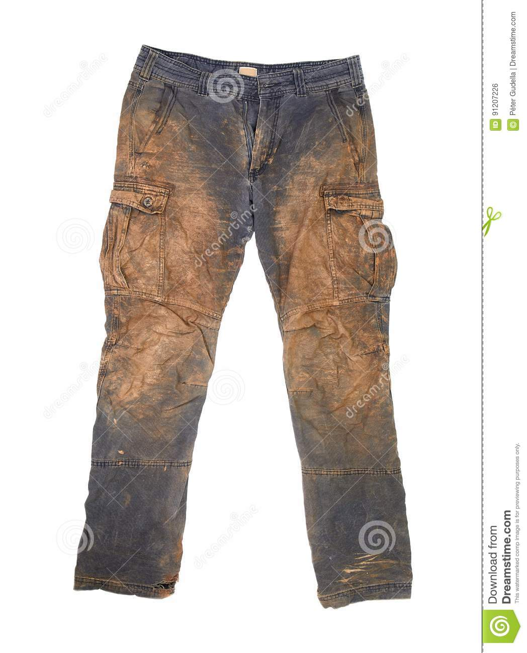 Trousers With Mud Stock Photo
