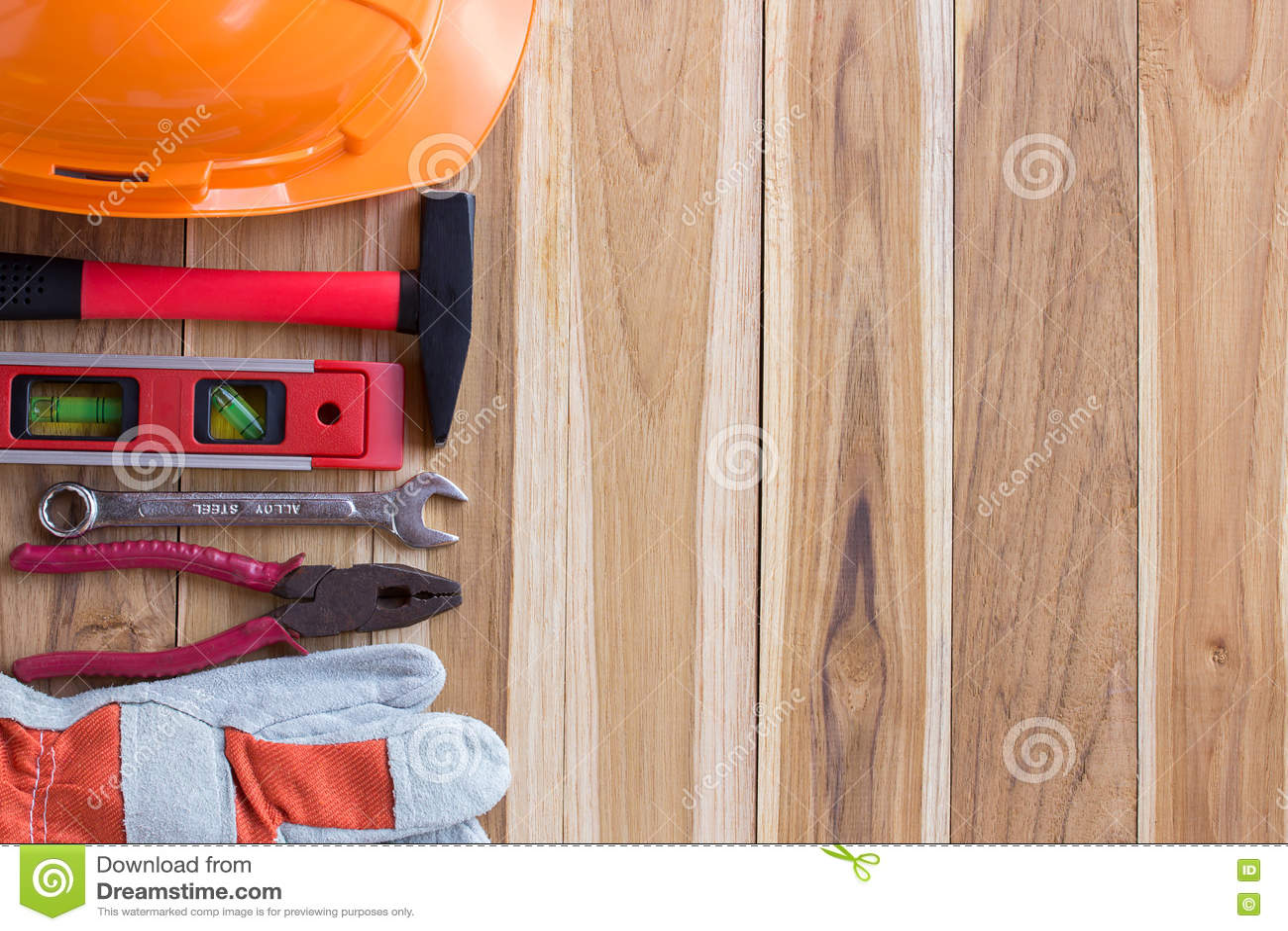 Trousse à outils de dispositif de protection et sur en bois