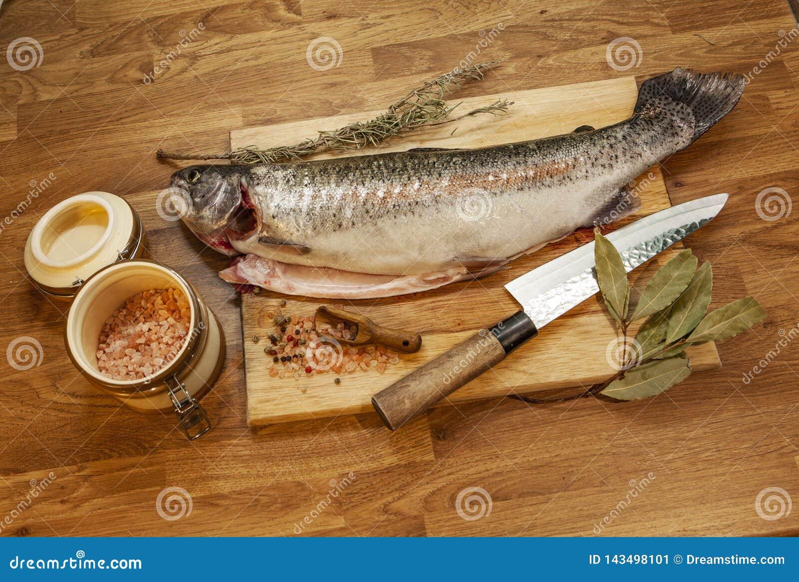 Fish on the cutting board