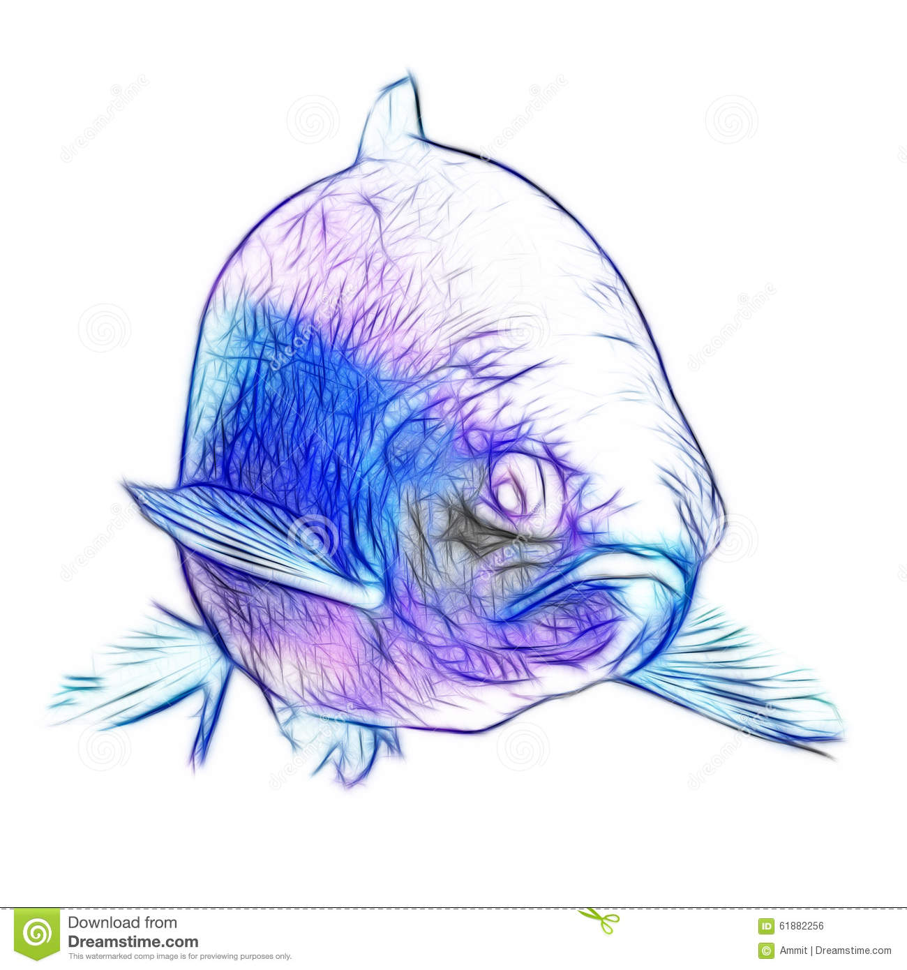 Speckled trout fish underwater royalty free cartoon for Dream of fish swimming