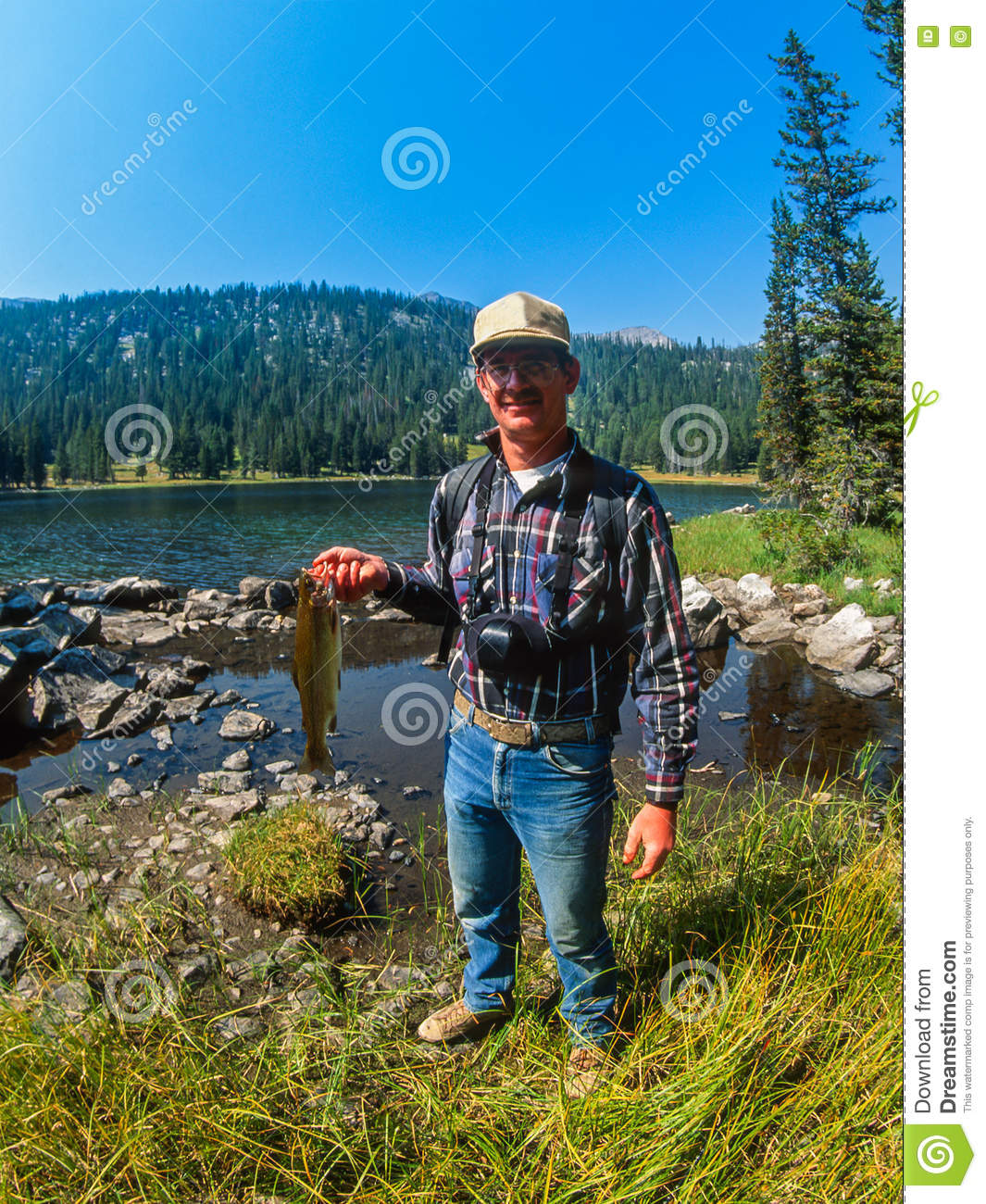 High mountain fishing lake royalty free stock photography for Fishing times free