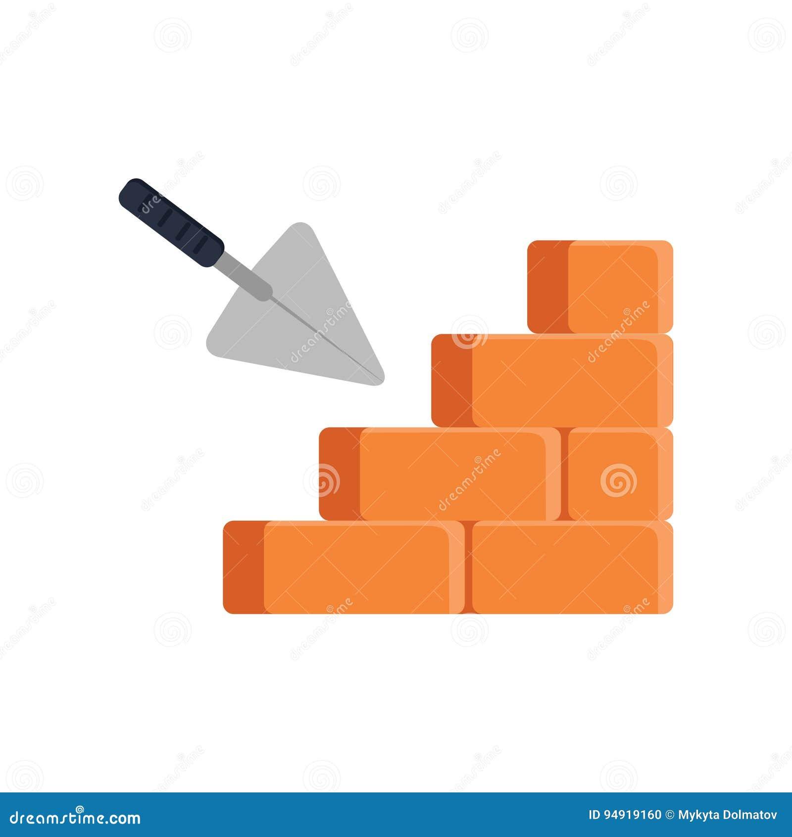 Brick House On White Background Royalty Free Stock Photo