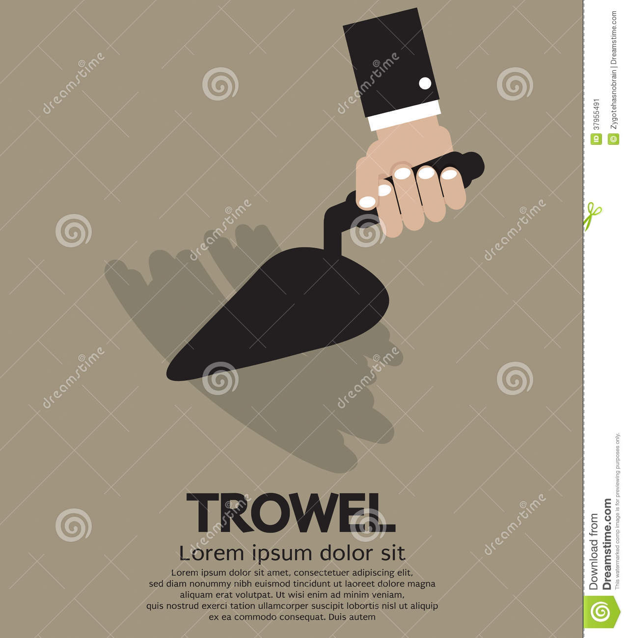 Illustrations Of A Trowel : Trowel stock image