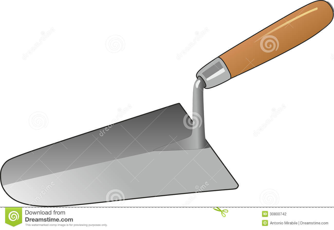 Illustrations Of A Trowel : Trowel stock photography image