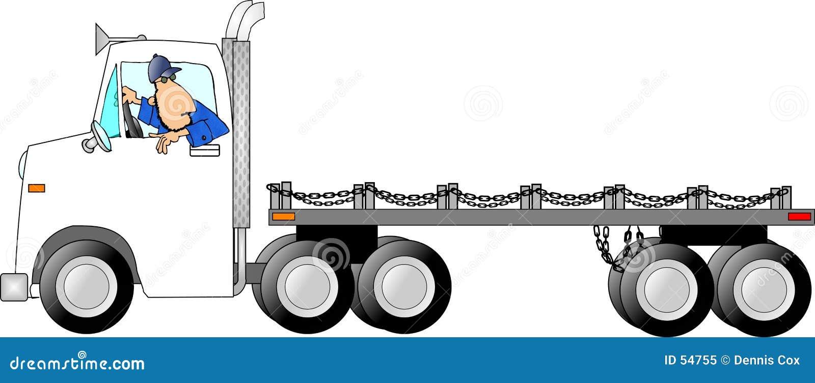 Truck ατόμων drivin