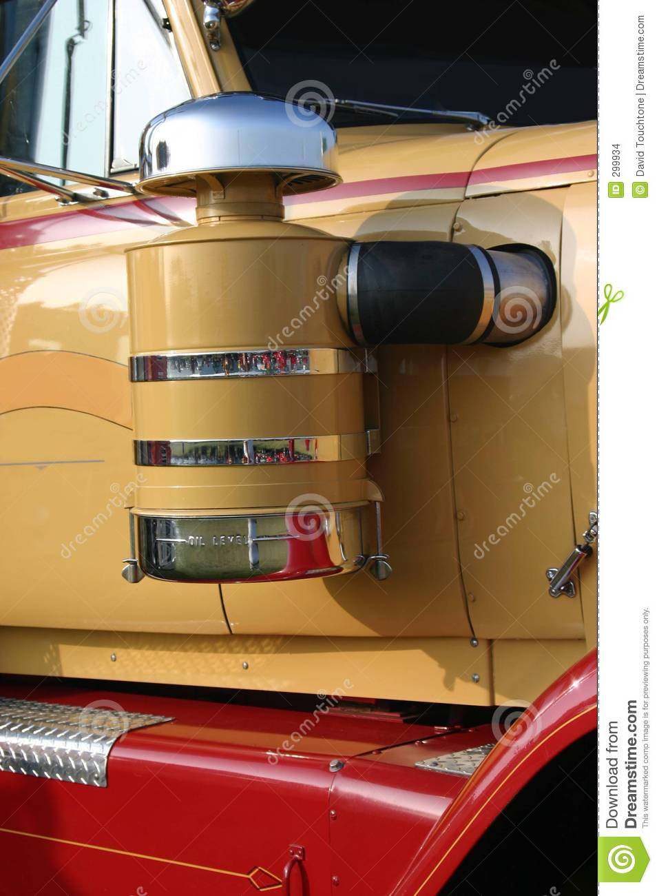 Semi Air Breather : Truck air cleaner stock photo image of windshield
