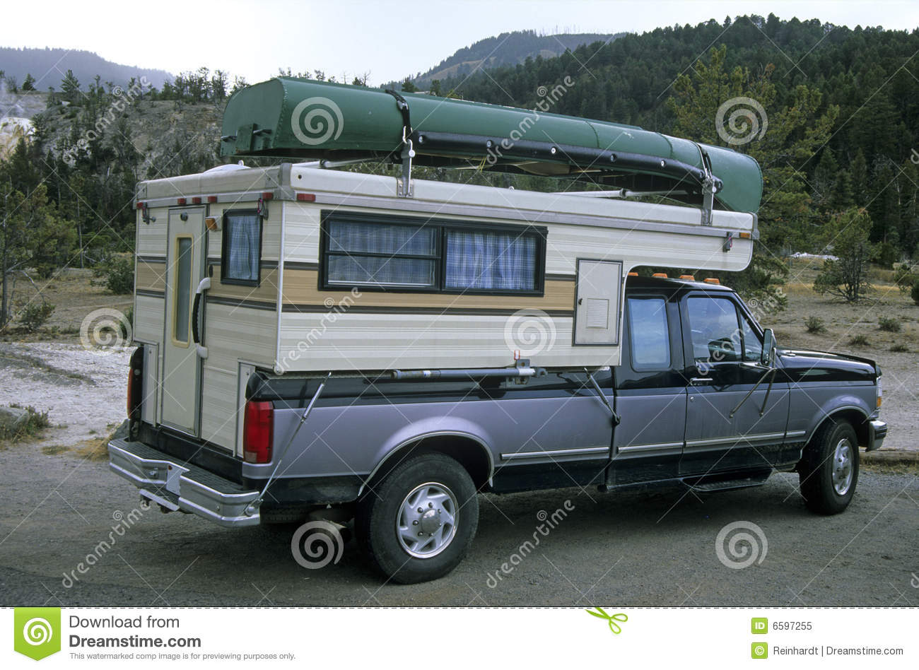 Truck camper 2 stock image. Image of boot, auto, freedom ...