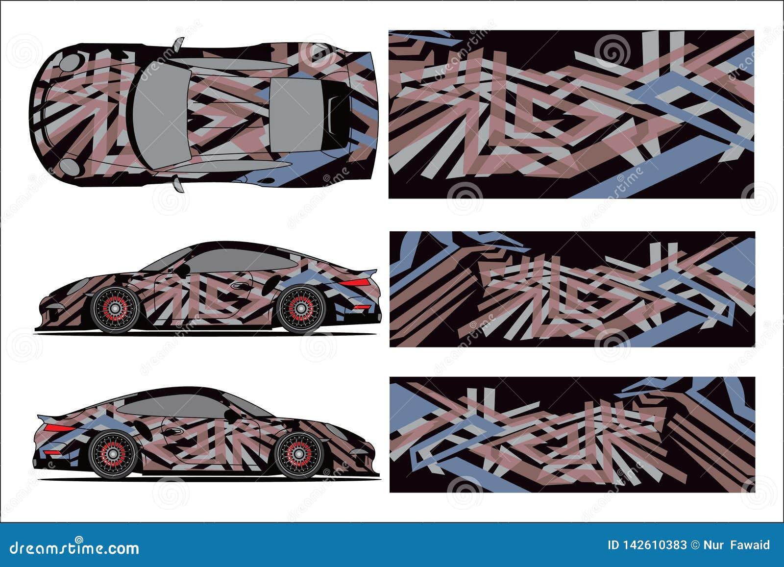 Design Race Vehicle Vector Advertising Design Automobile