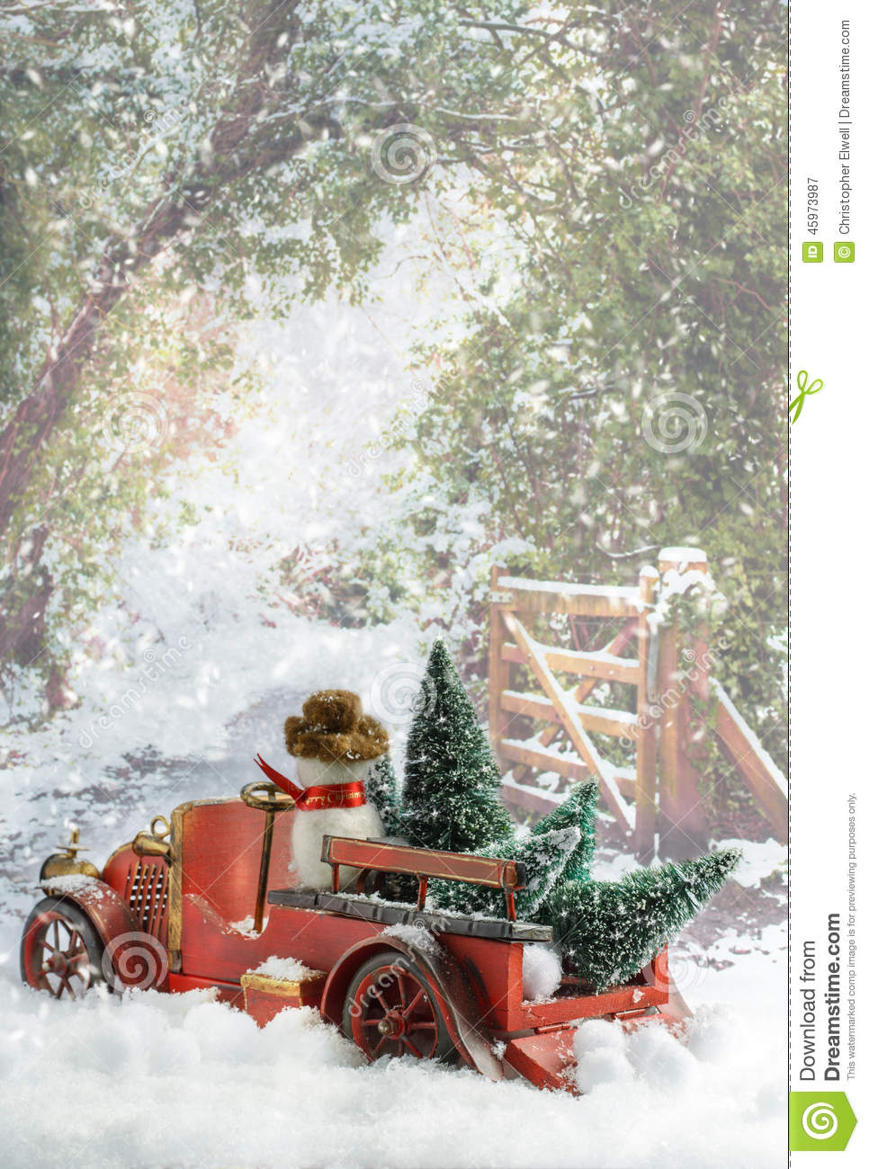 Truck Carrying Christmas Trees Stock Image Image Of