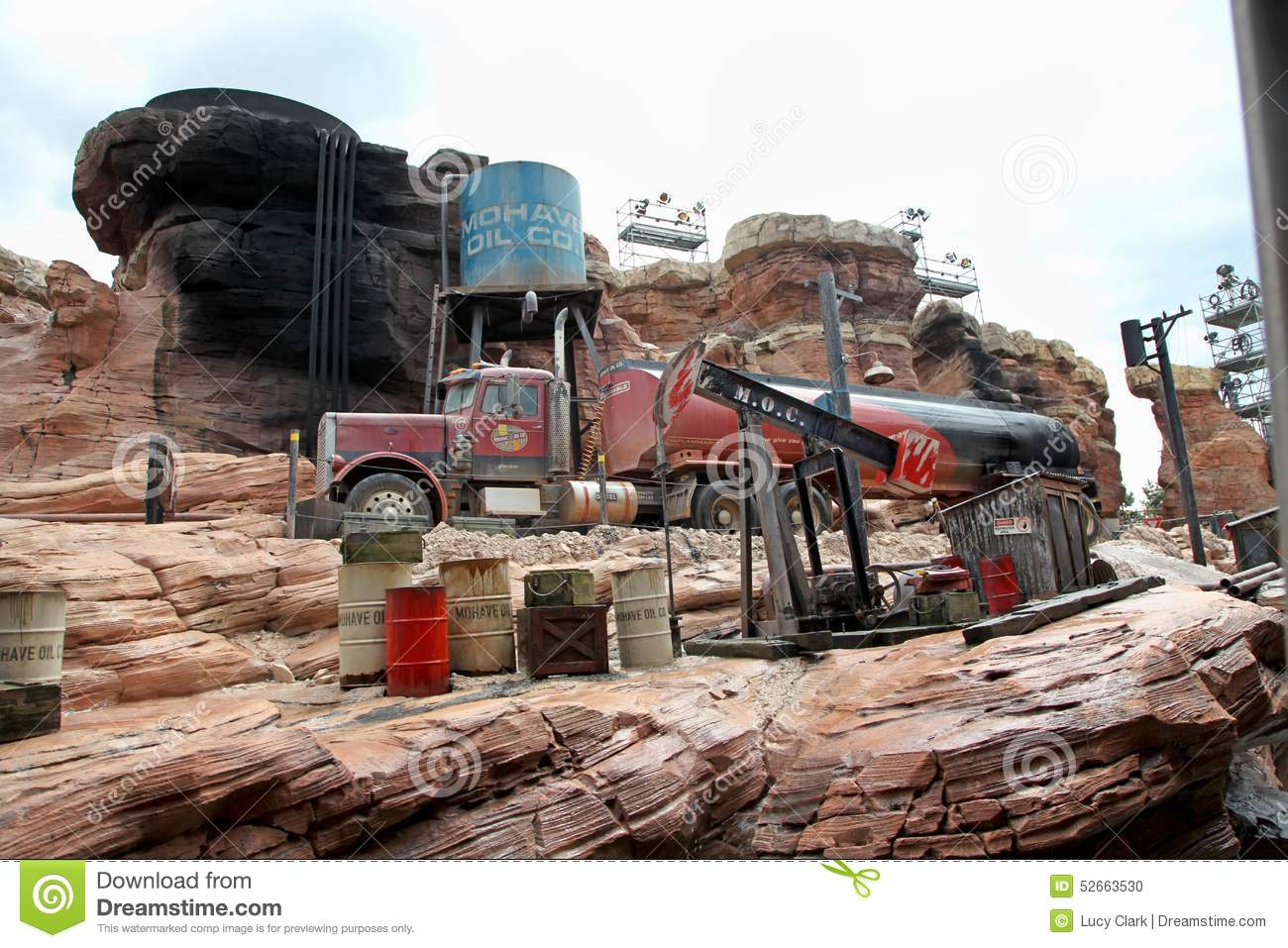 Truck At Catastrophe Canyon Editorial Image Image 52663530