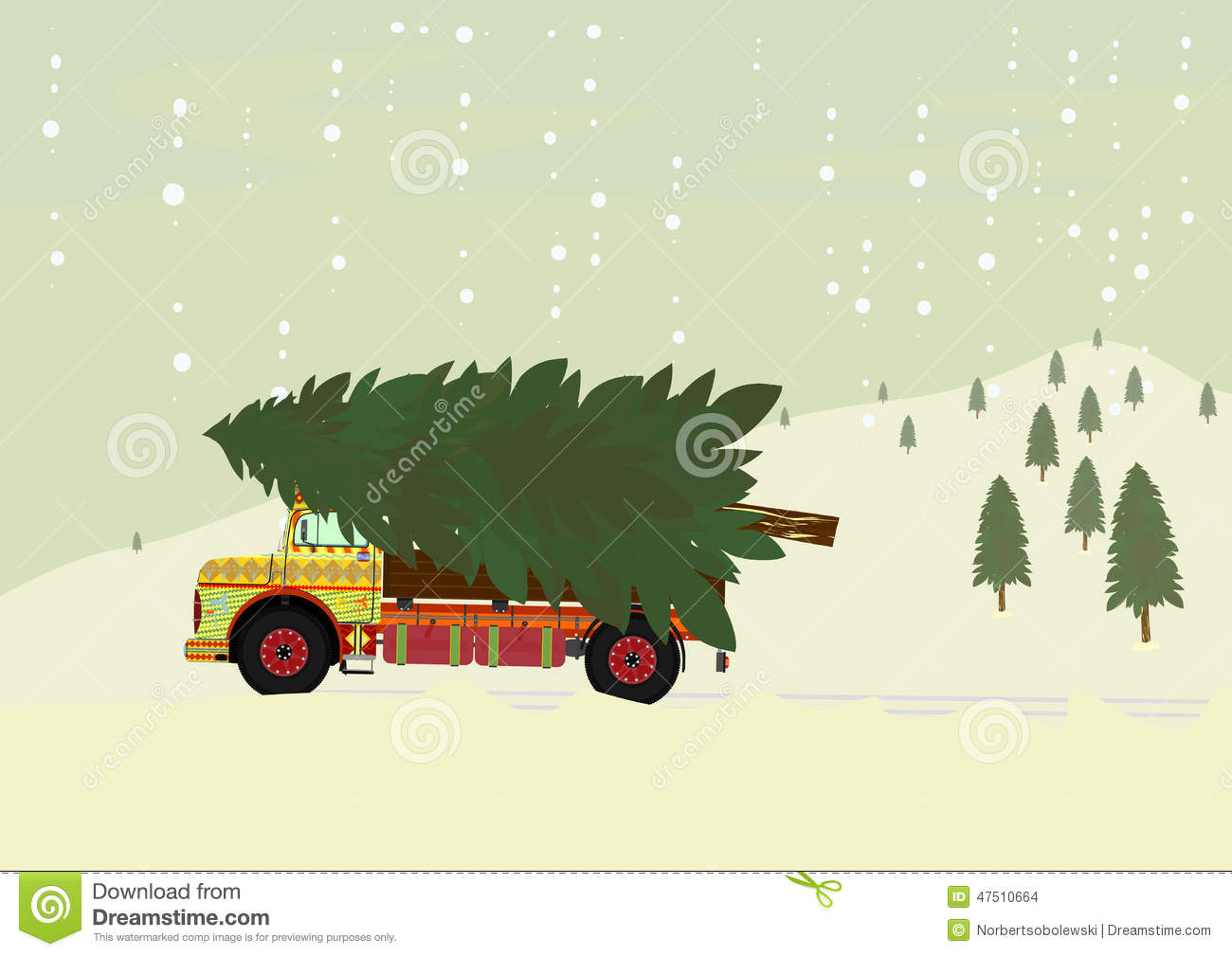 Truck With Christmas Tree Stock Vector Illustration Of Santa 47510664 The best gifs are on giphy. truck with christmas tree stock vector illustration of santa 47510664