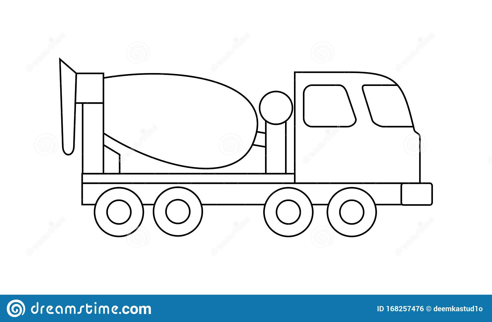 Truck Coloring Book Transportation To Educate Kids. Learn Colors ... | 1049x1600