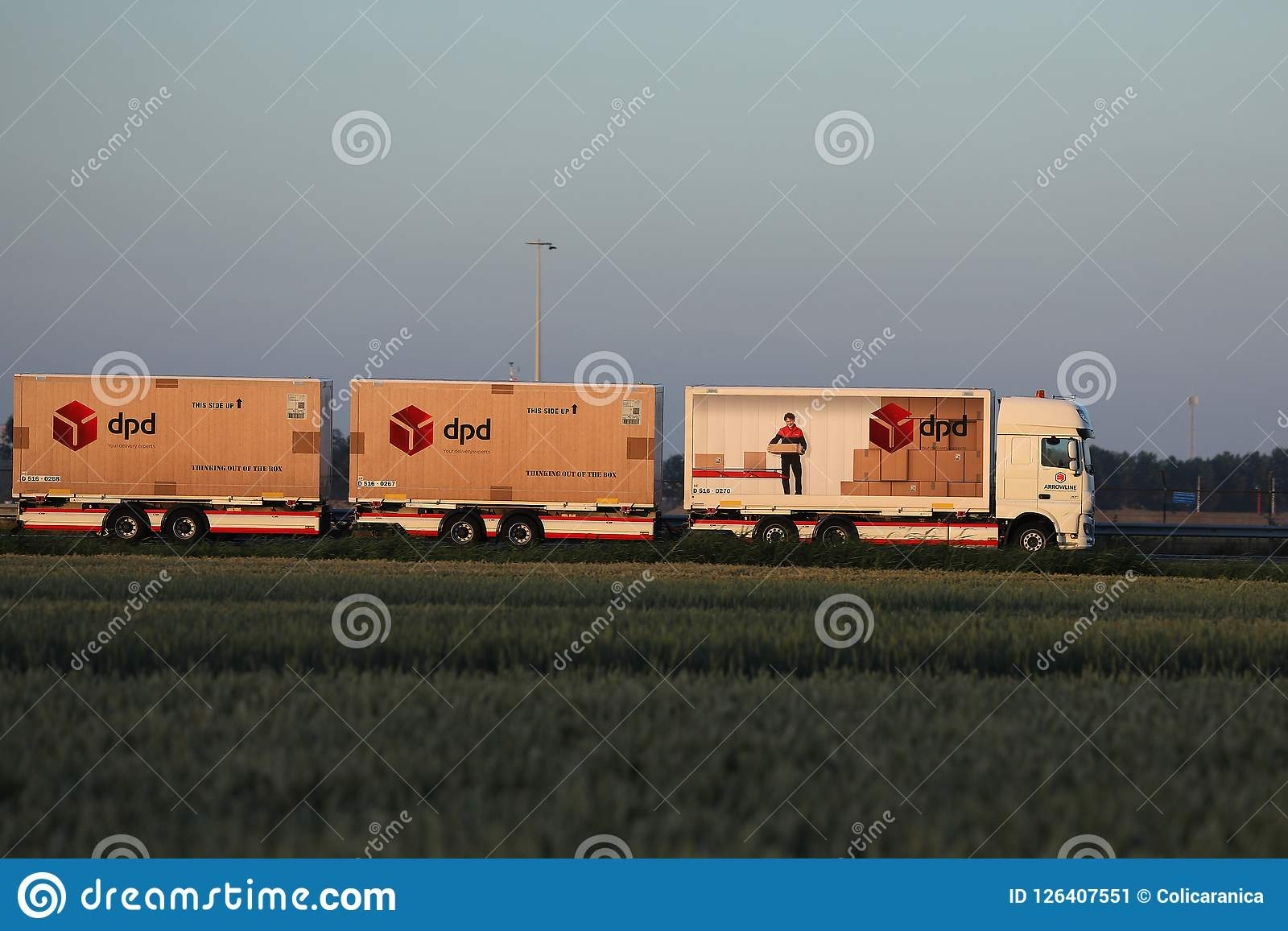 Dpd Truck On Netherlands Highway Editorial Photo - Image of beer