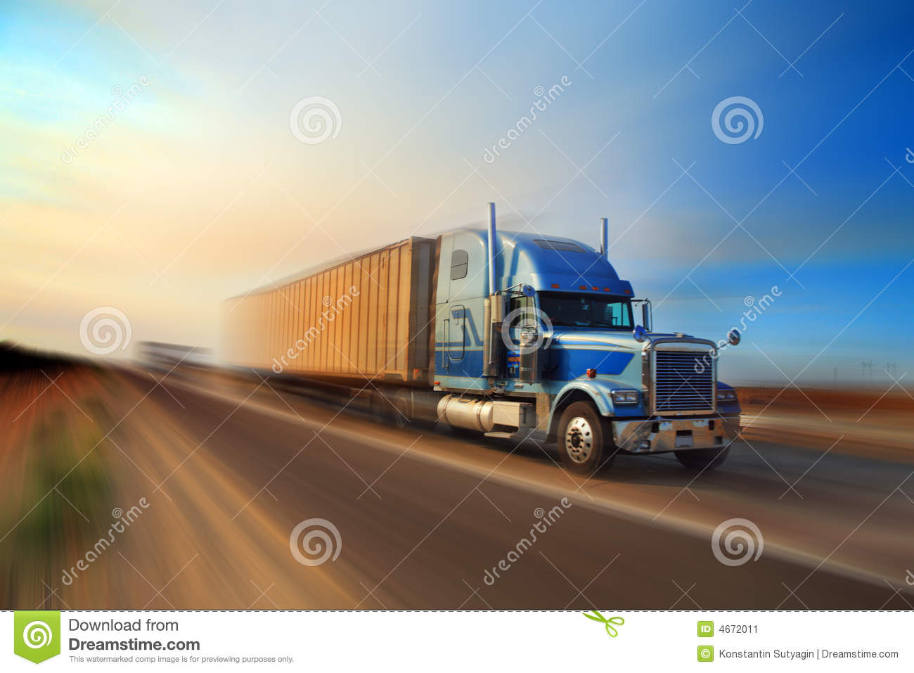Truck freight delivery
