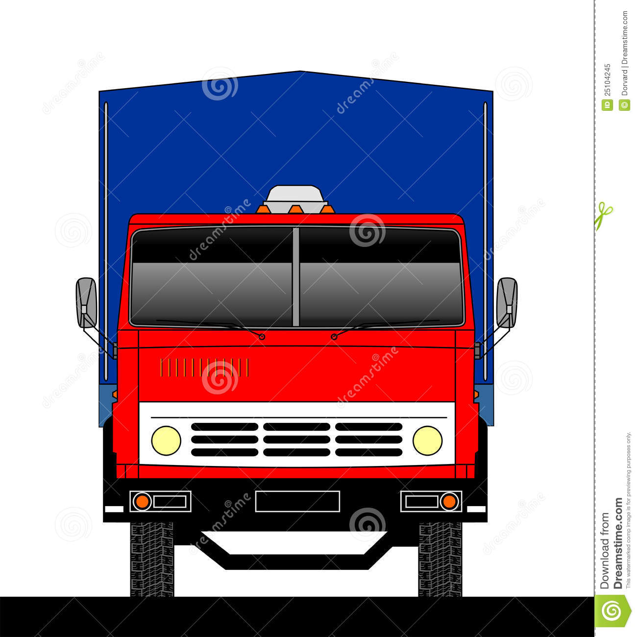 Truck Front View Royalty Free Stock Photo - Image: 25104245