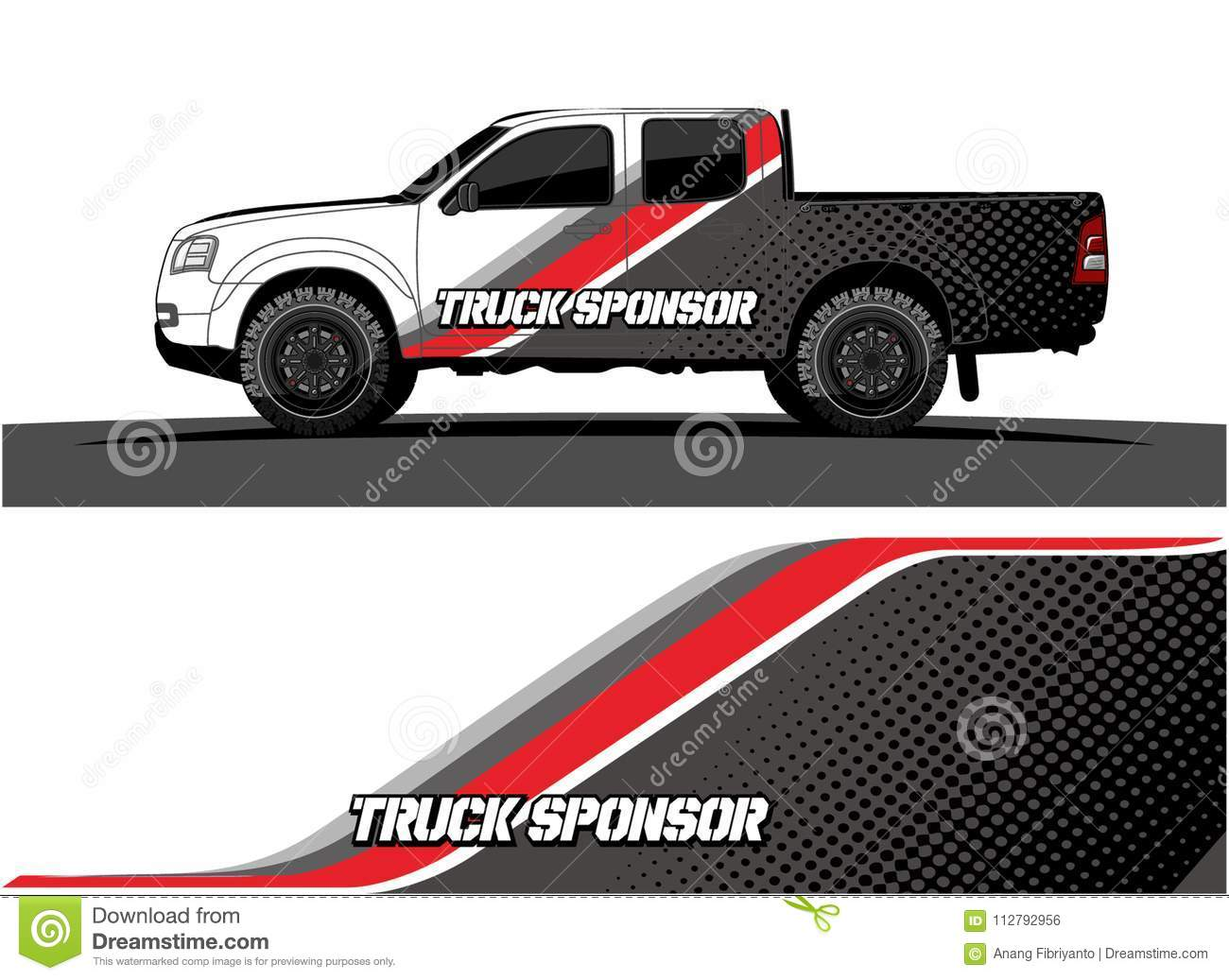 Truck Graphics  Vehicles Racing Stripes Background Stock