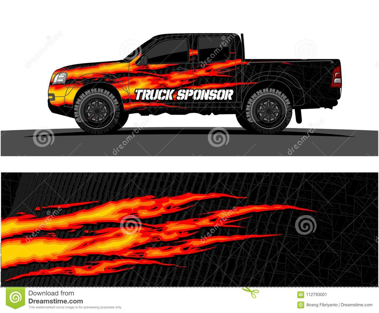 Truck Graphics Vehicles Racing Stripes Vector Background