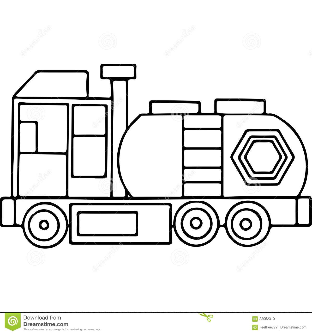 truck kids coloring pages geometrical figures stock illustration