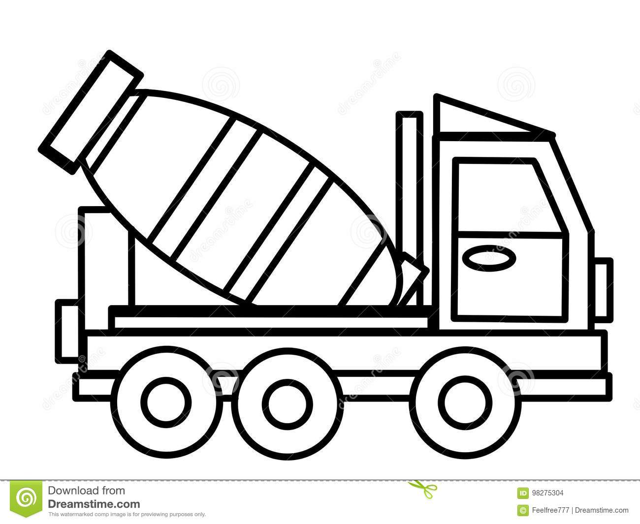 Truck Kids Educational Coloring Pages Stock Illustration Illustration Of Magazine Abstract 98275304