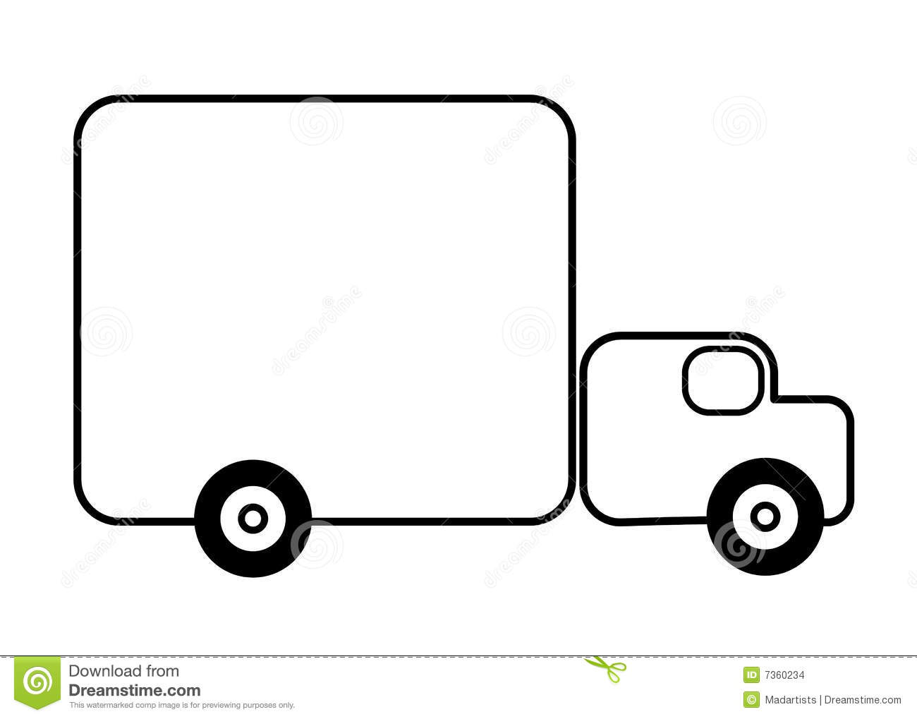 Line Art Truck : Truck line art background stock images image