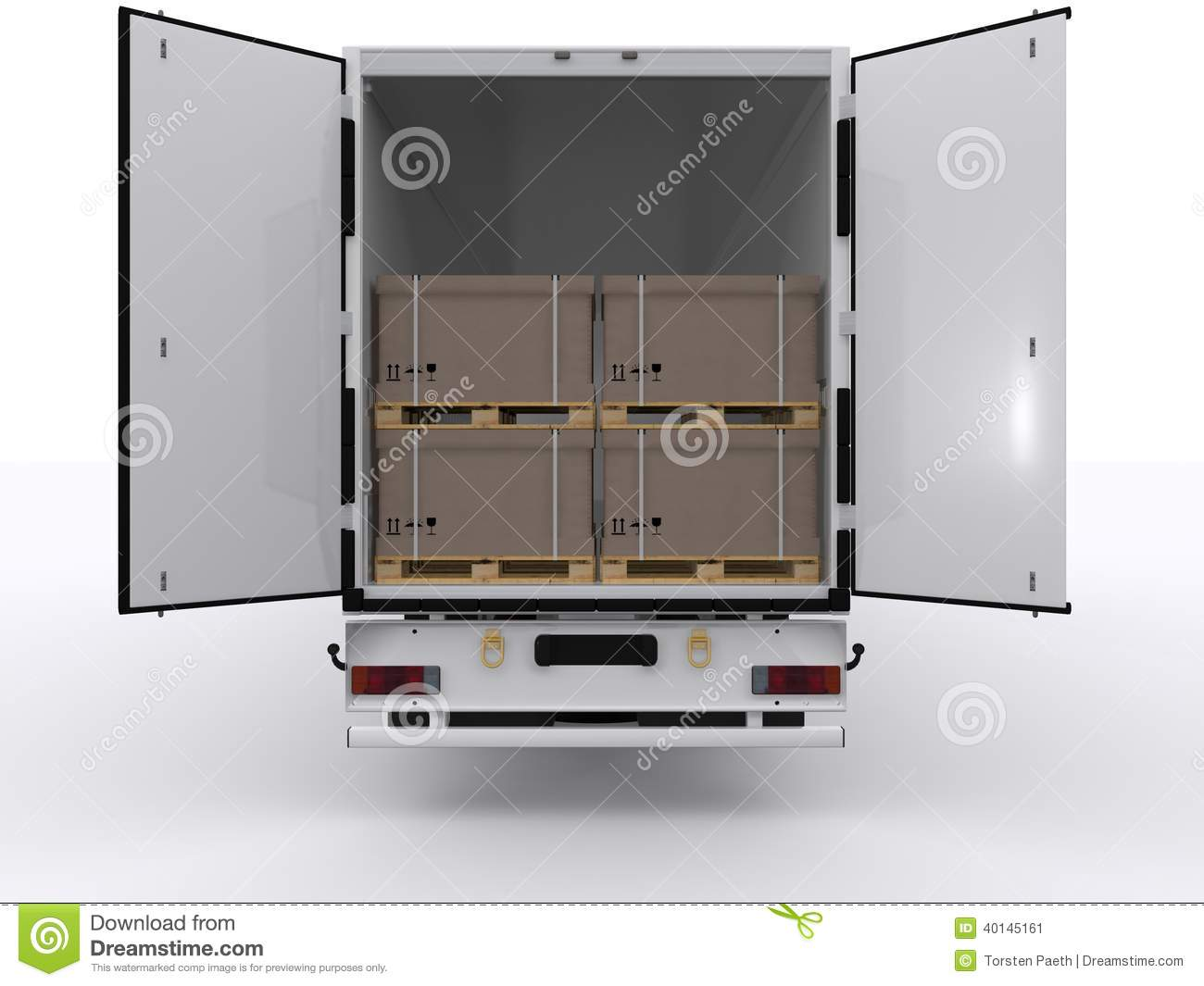 Semi Truck Seats >> Truck with open trailer stock image. Image of traffic - 40145161