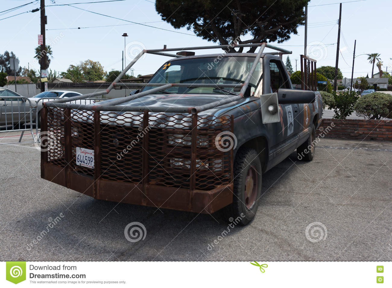 Truck post apocalyptic survival vehicle royalty free stock photos
