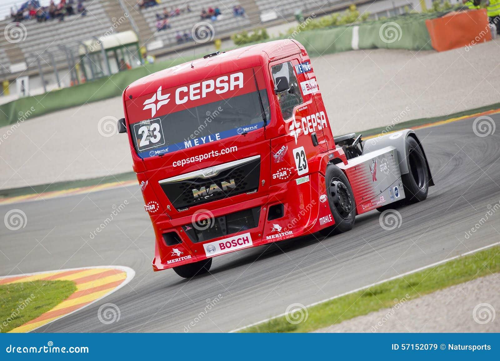 Albacete Circuit : Truck racing antonio albacete editorial stock image image of