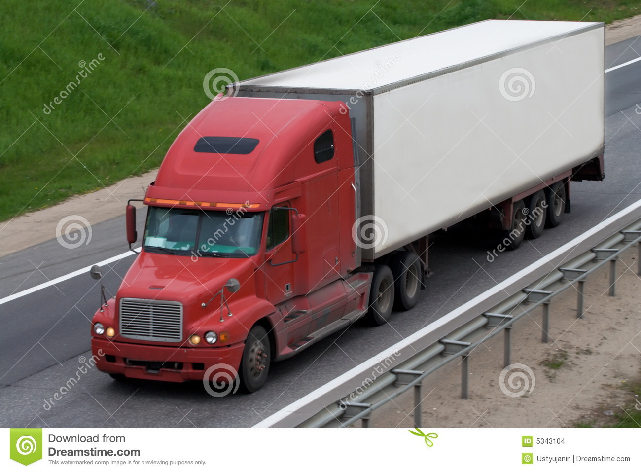 The Truck On A Road Stock Images - Image: 5343104