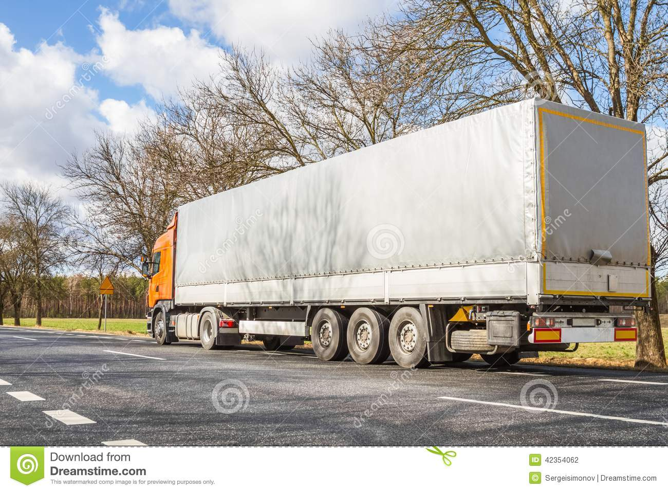 Truck On The Road Stock Photo - Image: 42354062