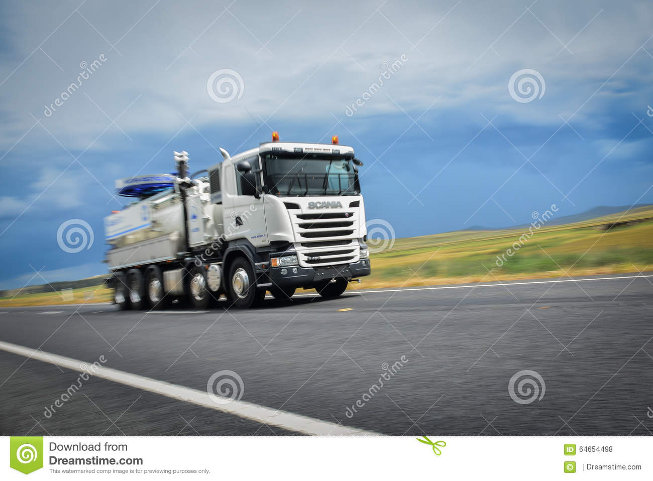Truck At Speed editorial stock photo  Image of