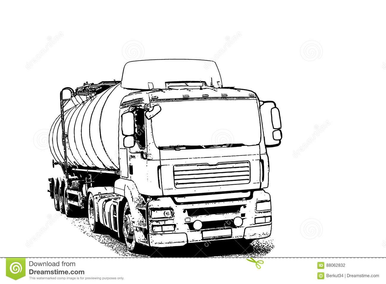 truck with a tank for transportation of petroleum products