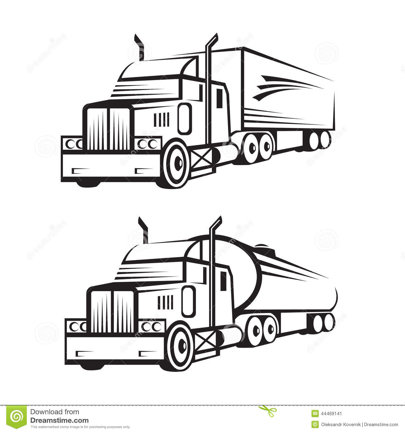 truck and tank truck stock vector  illustration of image