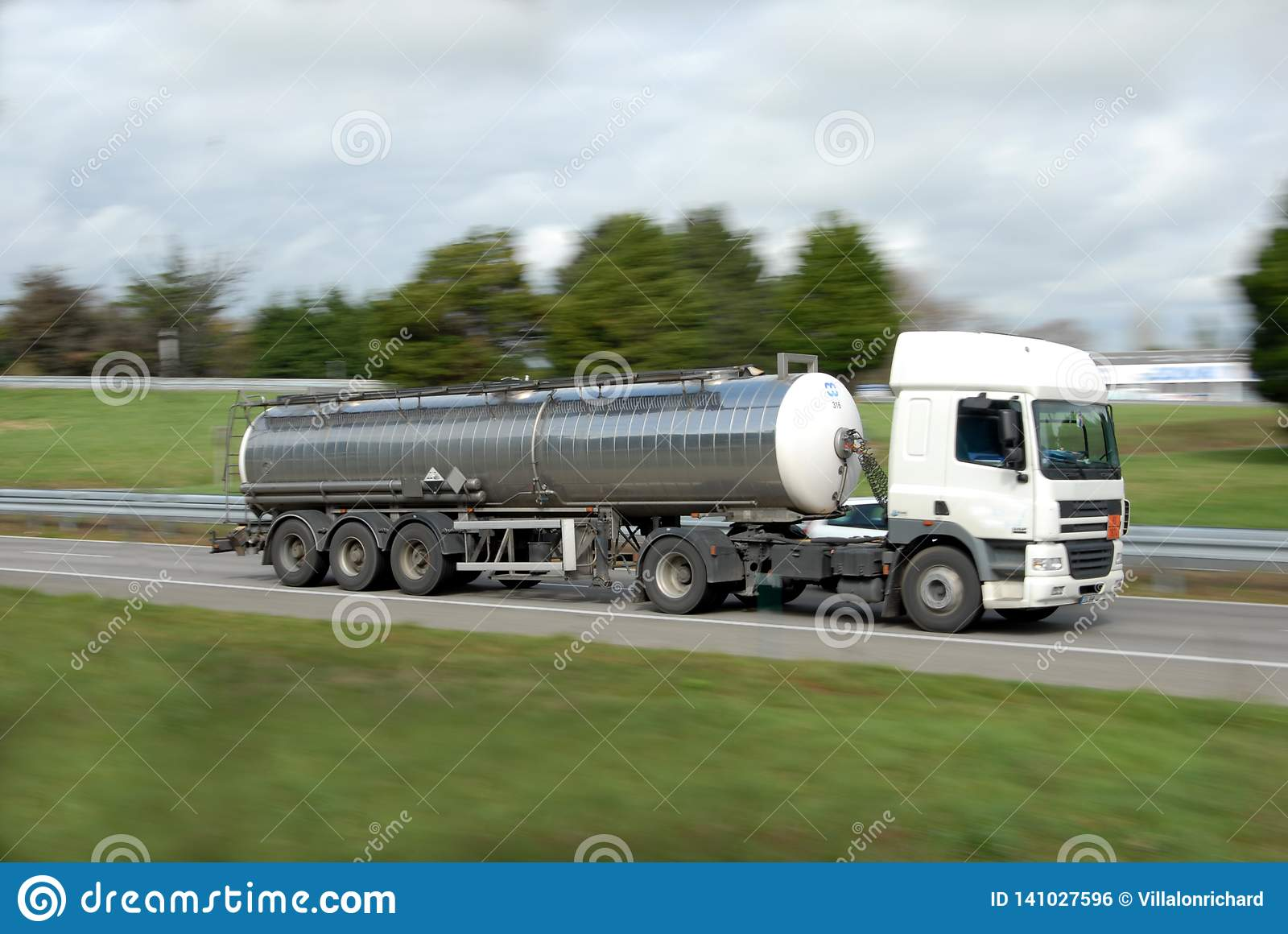 A tanker truck on a road