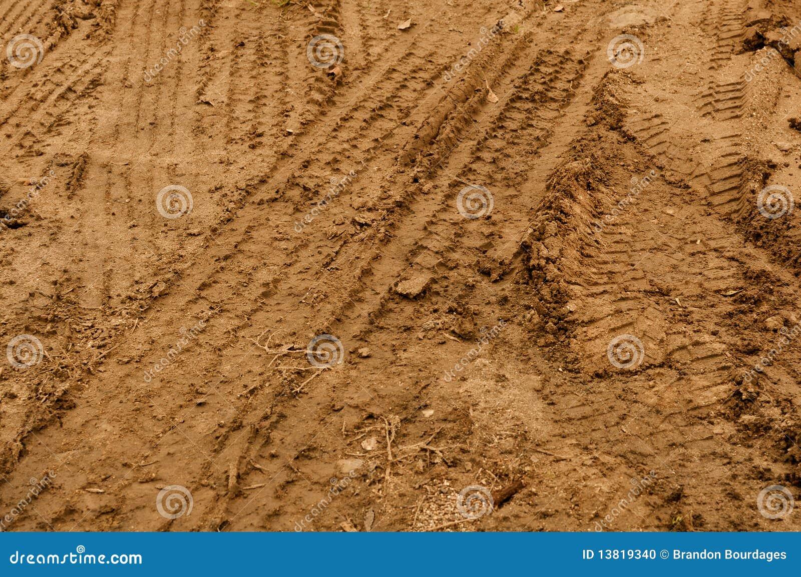 Mud Tire Tracks Truck Tire Tracks in Mud