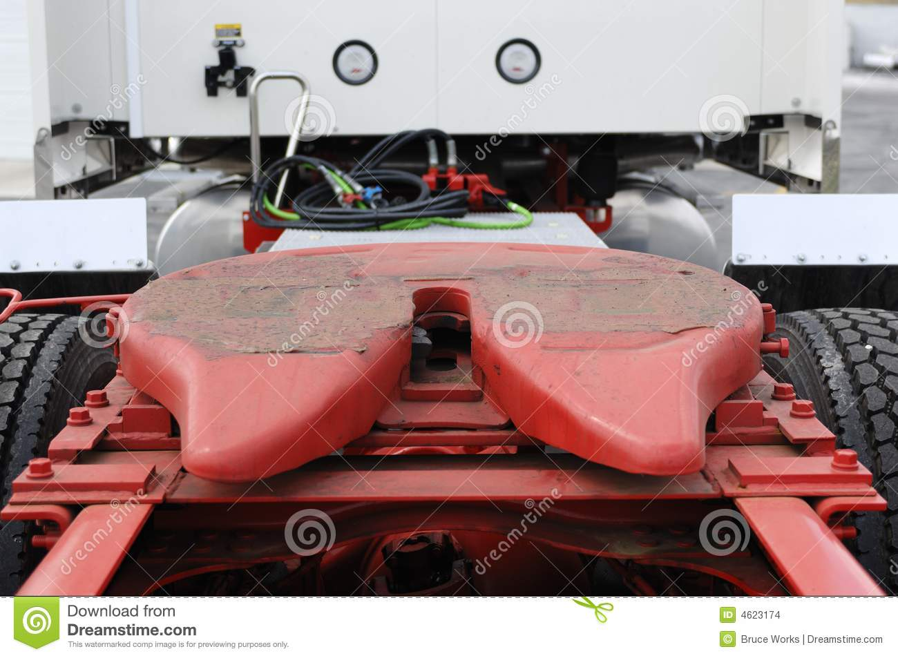 Truck Trailer Hitch >> Truck Trailer Hitch Stock Photo Image Of Tire Industry