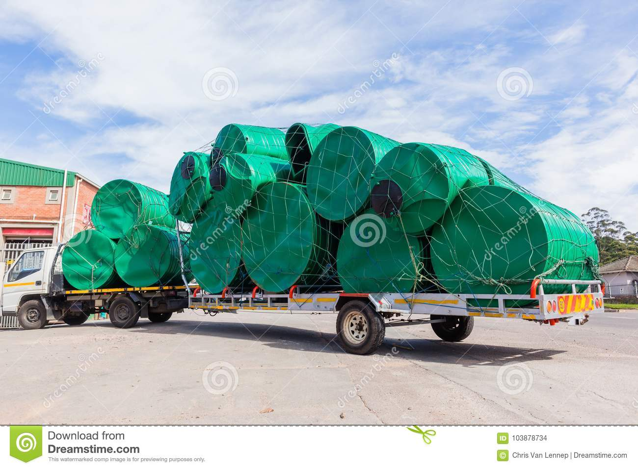 Truck Water Tanks Delivery stock photo  Image of water - 103878734